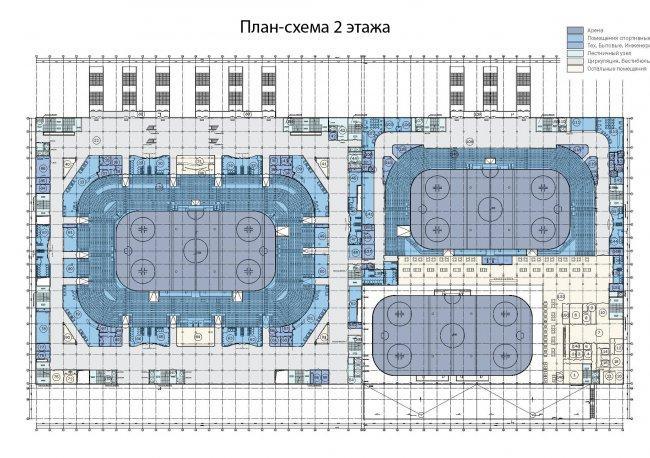 ВТБ Ледовый дворец, Москва, схема